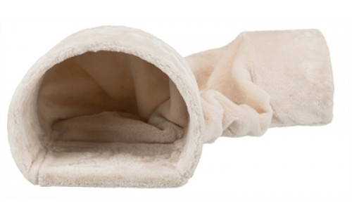 Trixie speeltunnel konijn / cavia pluche beige
